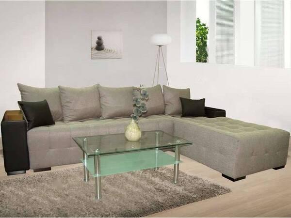 Ъглов холов диван ФЛОРА с функция сън