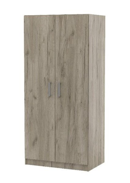 Двукрилен гардероб ТОП 2 с лост и рафт в 2 цвята
