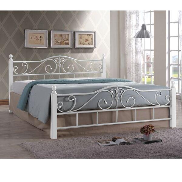 Метална спалня Адел 160Х200 в бяло