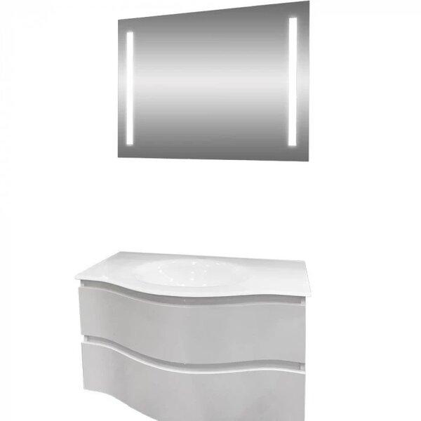 Комплект за баня долен шкаф и LED огледало Макена Барселона