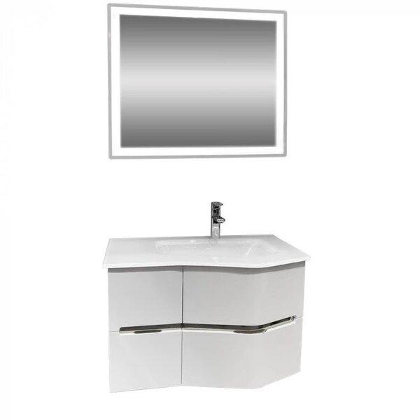 Комплект за баня долен шкаф и LED огледало Макена Севиля
