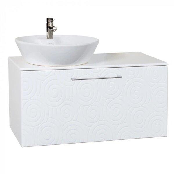 Долен шкаф за баня конзолен с умивалник Mакена Парадайз