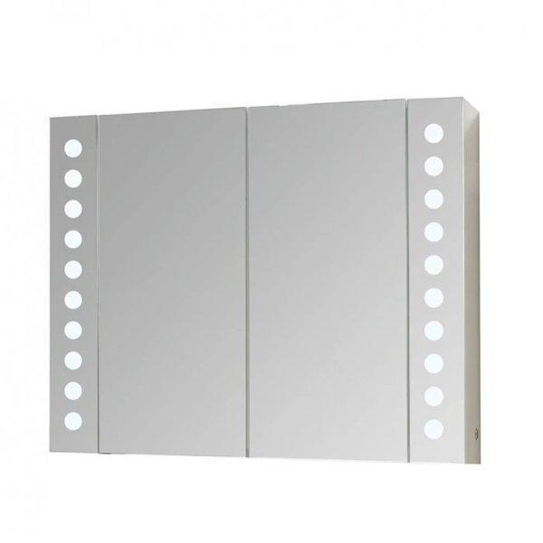 Горен PVC шкаф за баня с огледало Макена Парадайз