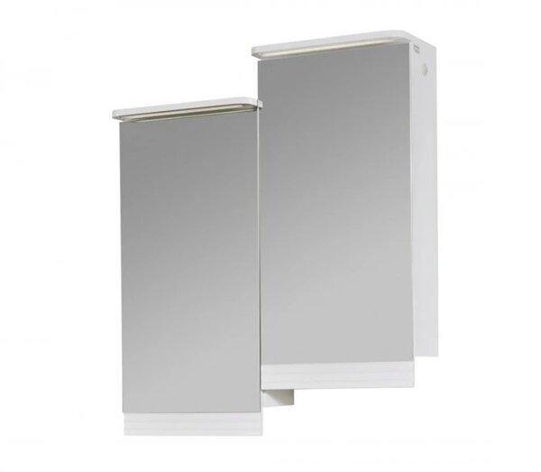 Горен шкаф за баня с огледало и LED Макена Лорена