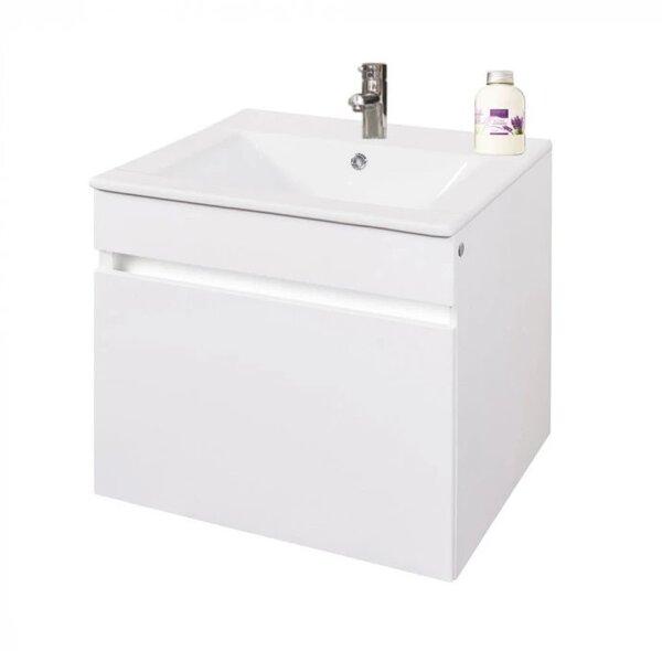 Долен шкаф за баня конзолен с умивалник Макена Сиана