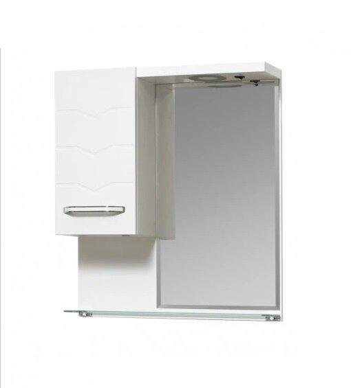 Горен PVC шкаф за баня с огледало Макена Перла