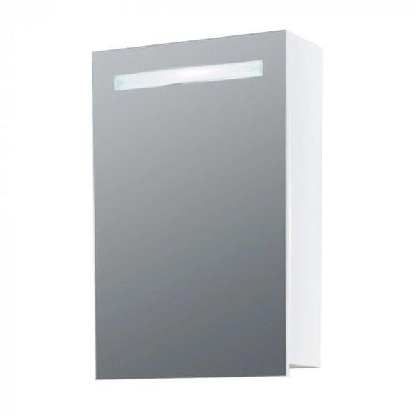 Горен PVC шкаф за баня с огледало Макена Кастел