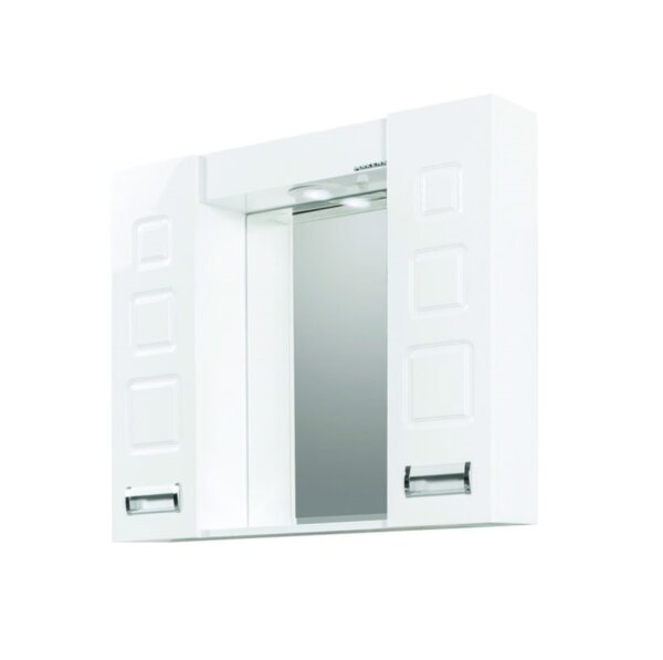 Горен шкаф за баня с огледало Макена Лагуна