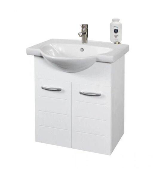 Долен шкаф за баня с умивалник Макена Муки