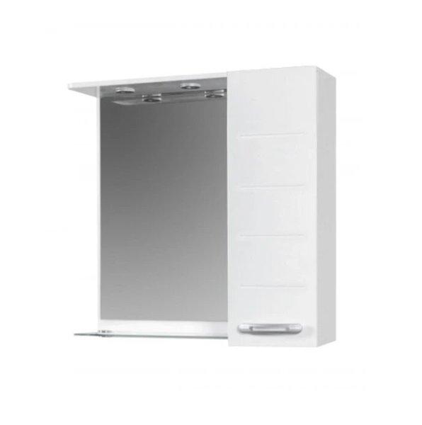 Горен шкаф за баня с огледало и LED Макена Муки
