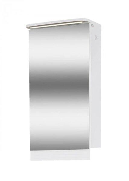 Горен шкаф за баня с LED и огледало Макена Лео