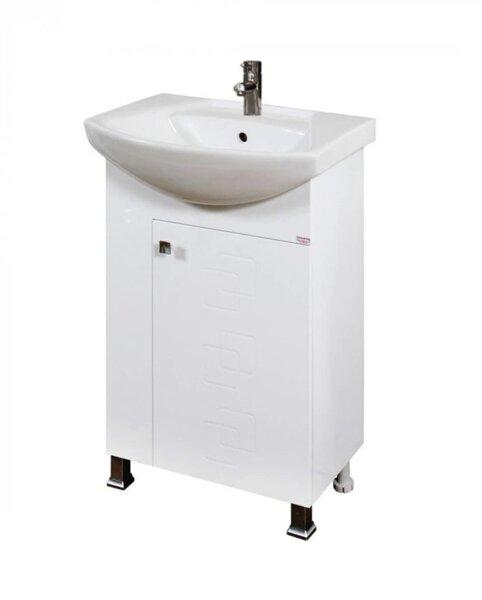 Долен PVC шкаф за баня с мивка Макена Лазур
