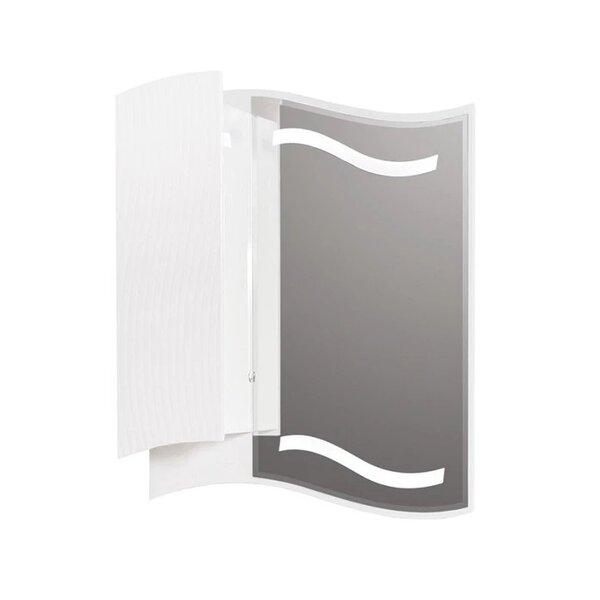 Горен PVC шкаф за баня с огледало Макена Чеби