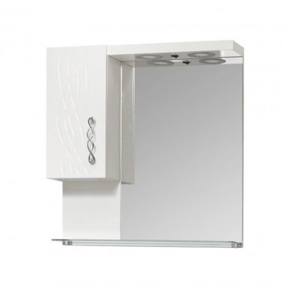 Горен шкаф за баня с огледало и LED Макена Бети