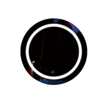 LED огледало кръгло с часовник Макена B 39