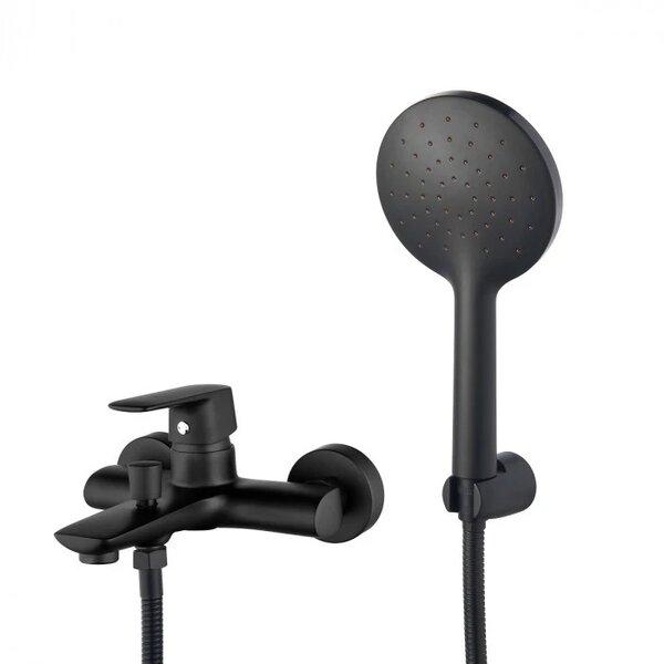 Едноръкохватков смесител за вана/душ Cascada Life Black