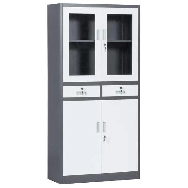 Метален шкаф CR-1247 Е SAND - бял - графит