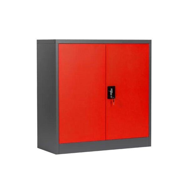 Метален шкаф CR-1239 E SAND - червен - грaфит