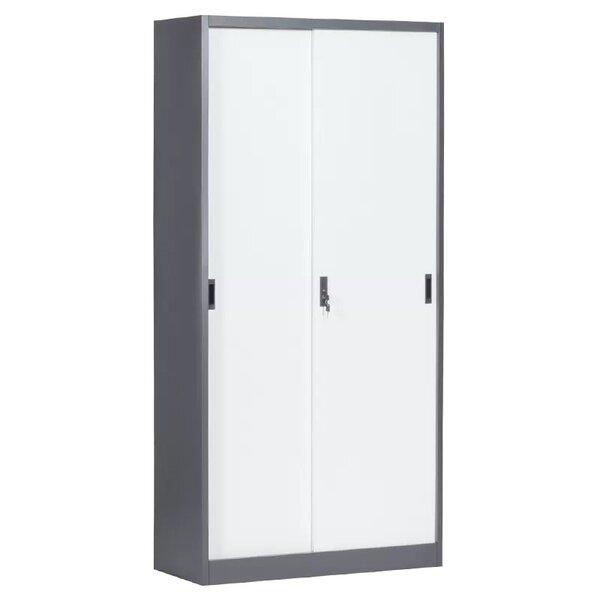 Метален шкаф CR-1266 E SAND - бял - графит