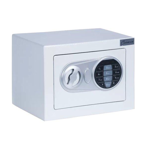 Метален сейф CR-1554 - бял
