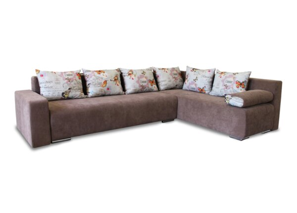 Ъглов холов диван Смарт с функция сън