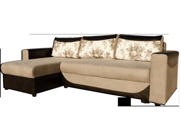 Ъглов холов диван Модена с функция сън