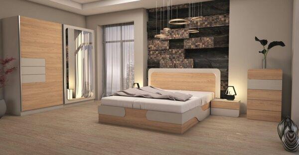 Спален комплект КАРОЛИНА с LED осветление 160x200