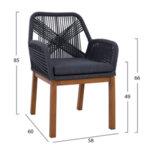 Плетен градински стол Бамбу в 2 цвята