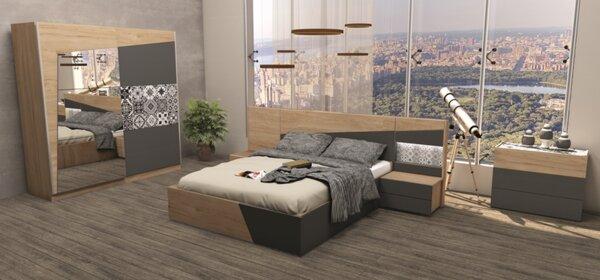 Спален комплект ТОСКАНА с LED осветление 160x200