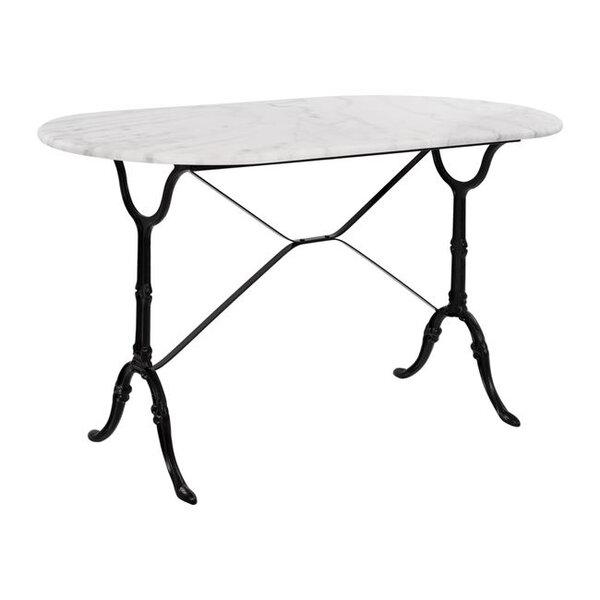 Овална маса за градина с мрамор Елизабет 5