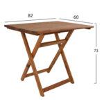 Градинска маса от дърво Наксос