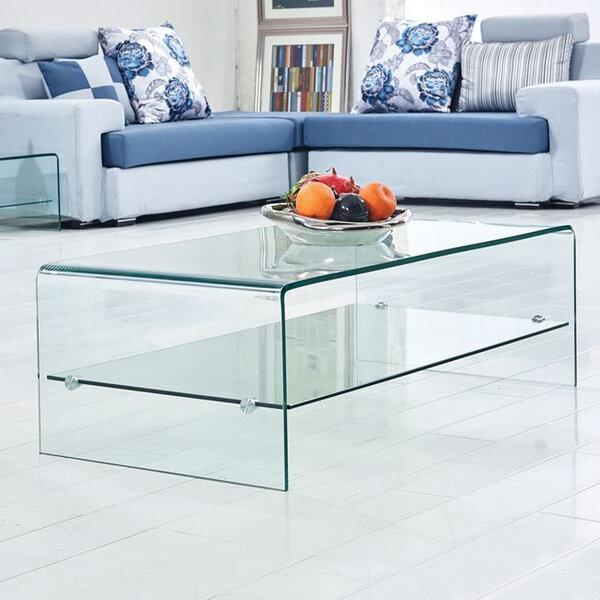 Стъклена холна маса Шелф