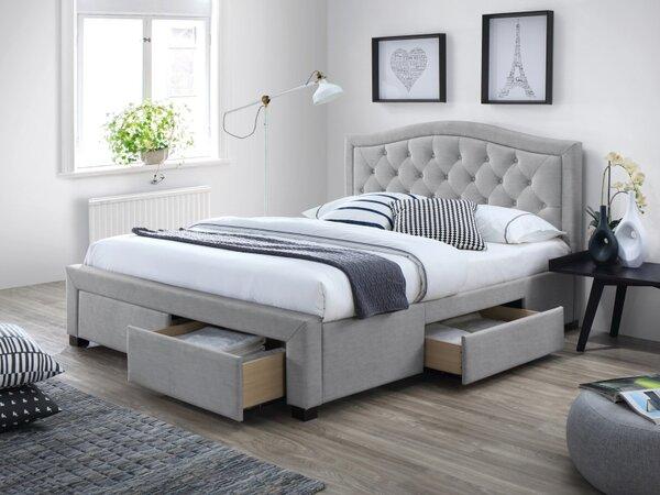 Тапицирана спалня с чекмеджета Електра в 3 размера