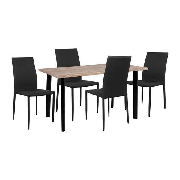 Комплект маса със столове Ариана в черно