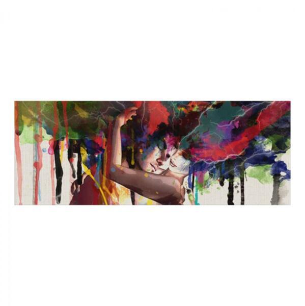 Картина арт дизайн цветни умове 80x30
