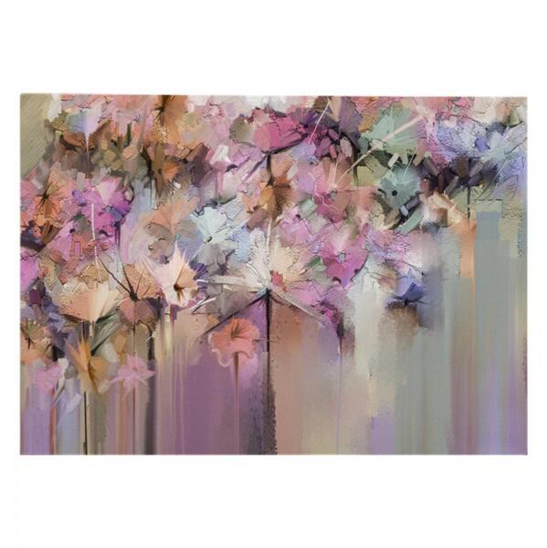 Картина в дизайн на пастелни цветя 100x70
