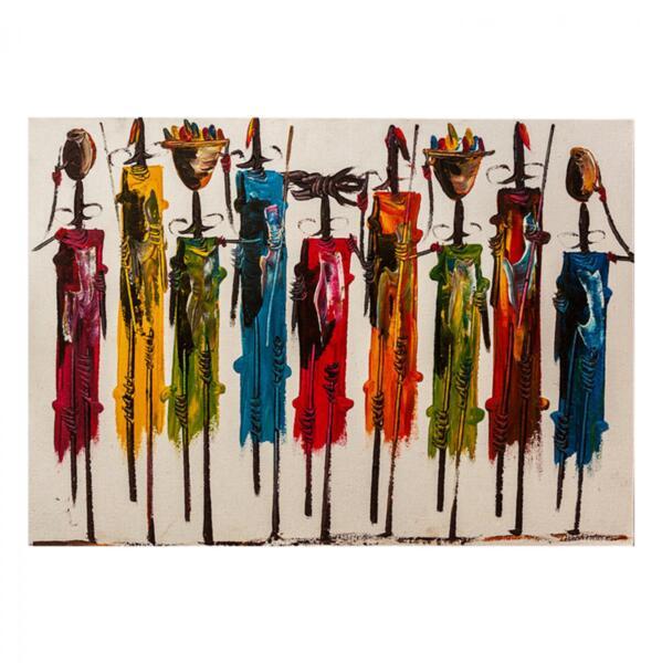 Картина в цветен африкански арт дизайн 100x70
