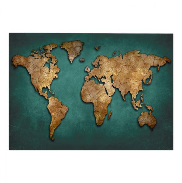 Картина в дизайн световна карта 100x70