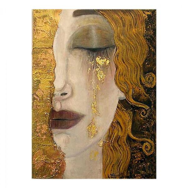 Картина дизайн жена със златни сълзи 30x40