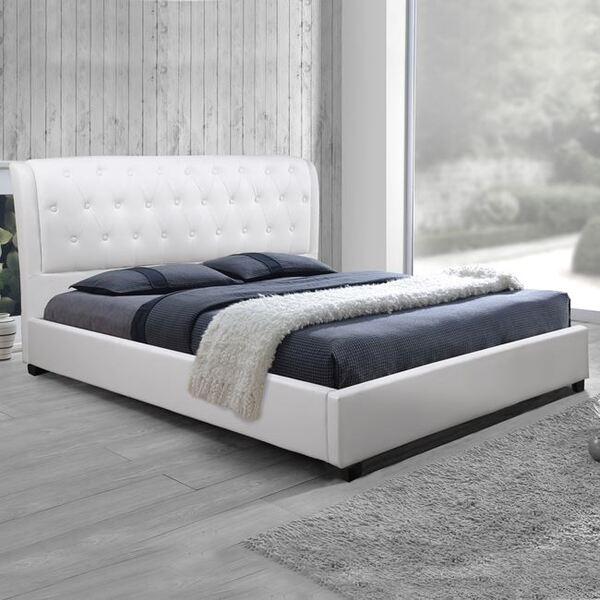 Бяла кожена спалня Одалис 150x200