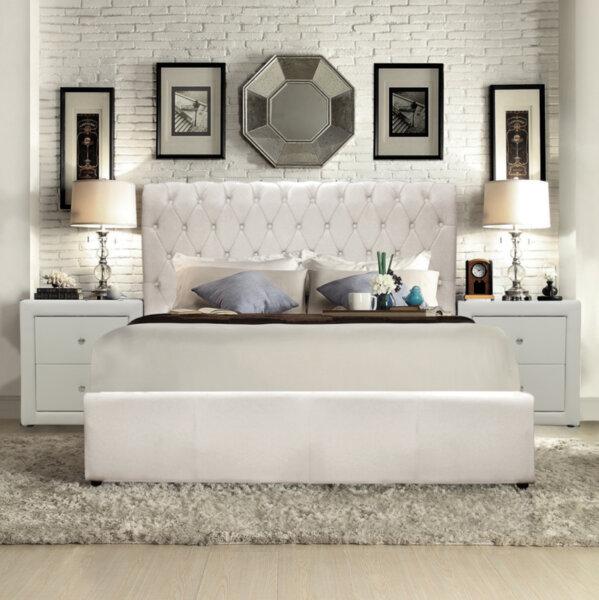 Тапицирана спалня Клеопатра Честърфийлд 150x200