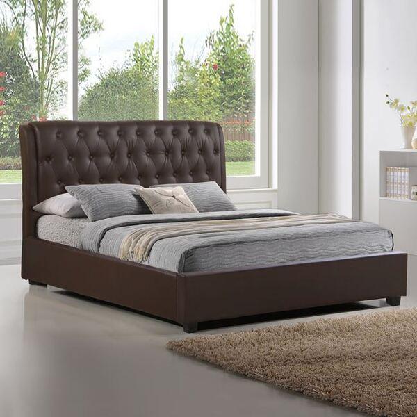 Кафява кожена Спалня Одисей 150X200