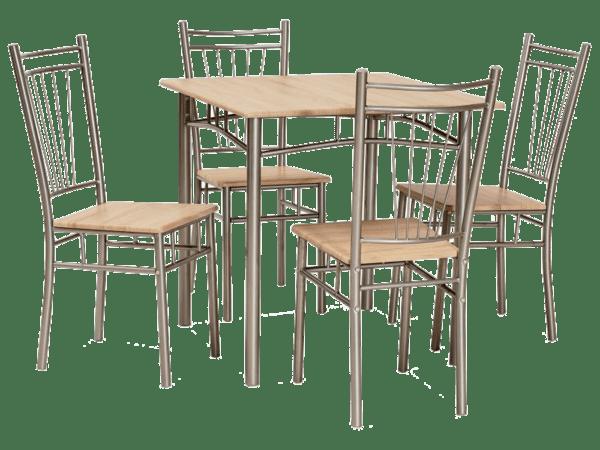 Комплект маса с 4 Стола Фит