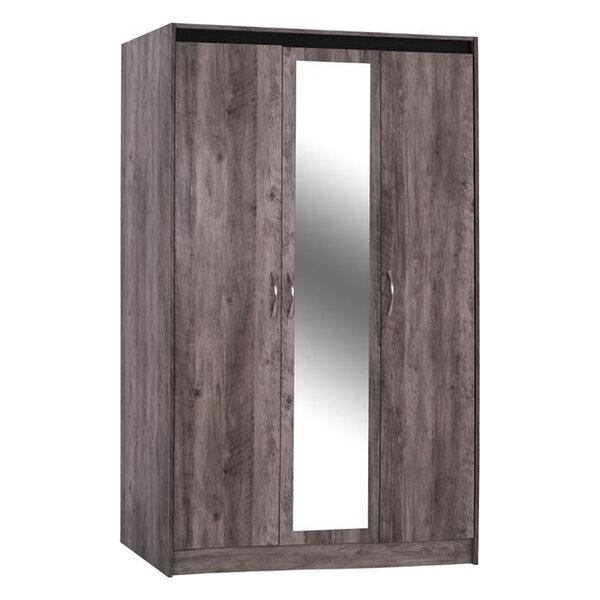 Трикрилен гардероб с огледало Яница