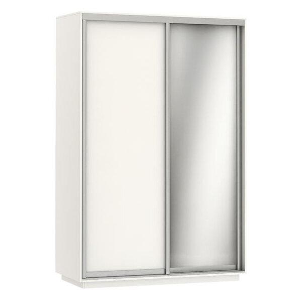 Двукрилен гардероб Лукас с огледало в 3 цвята