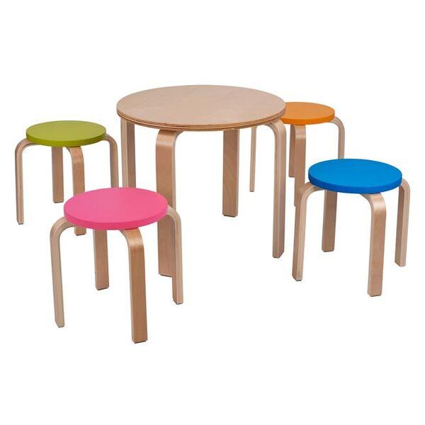 Комплект маса със столове за детска стая Снежанка