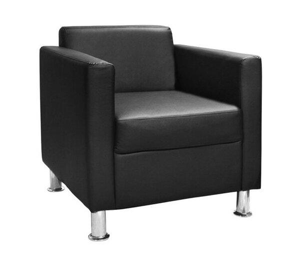 Кожен фотьойл Кубо черен