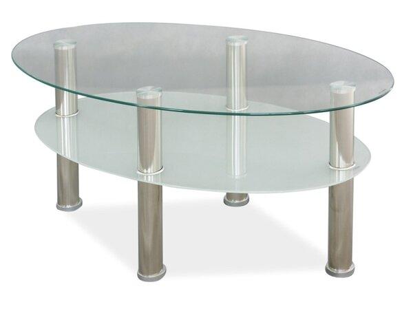 Стъклена холна маса Лео