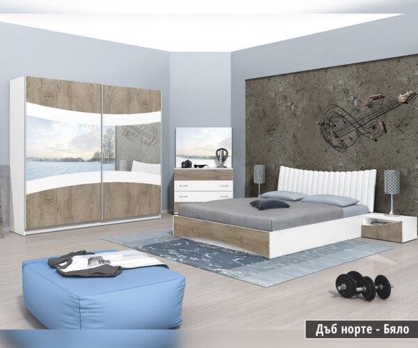 Спален комплект Сиена 160X200 в 3 цвята
