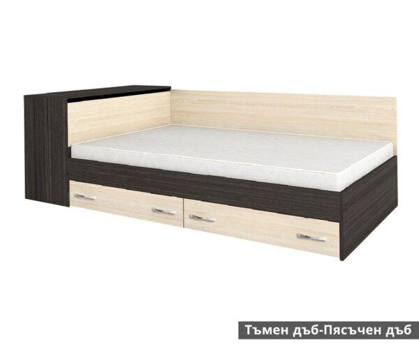 Единично легло Анди с чекмеджета 82X190 в 5 цвята